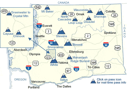 Click the Map to go directly to the Washington State Department of Transportation website